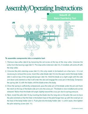 Instrucciones de funcionamiento de Nobur JB