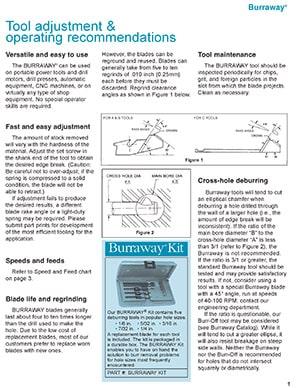 Instrucciones de funcionamiento de Burraway BurrOff