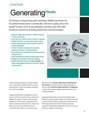 Guía de cabezales generadores de Cogsdill